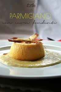 Tortini di parmigiano con cuore fondente