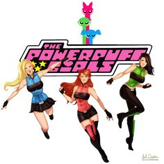And adult Powerpuff Girls with costumes that look actually pretty functional<<< Awesome '90s Cartoons As If They Were Made Today