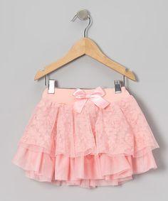 Loving this Peach Rosette Tiered Skirt - Infant, Toddler