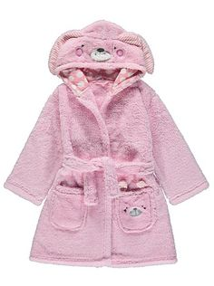 Rabbit Hooded Fleece Dressing Gown, read reviews and buy online at George at ASDA. Shop from our latest range in Kids. This fun dressing gown is embroidered ...