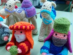 Crochet camels and the three wise men