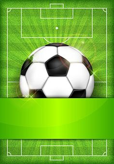 Vector Football Match Poster Background - Daily Sports News & Live Stream Fotball Channel Sports Themed Birthday Party, Football Birthday, Soccer Party, Soccer Ball, Football Match, Football Soccer, Football Background, Football Tattoo, Poster Background Design