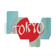 Vintage Tokyo, Japan Travel Posters Favor Box