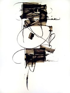 camillapresle: Kitty Sabatier (via annct) Black And White Abstract, White Art, Abstract Drawings, Abstract Art, Encaustic Art, Letter Art, Mark Making, Calligraphy Art, Texture Art