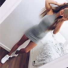 New Sexy Women Summer Sleeveless Party Evening Cocktail Bodycon Short Mini Dress
