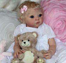 Beautiful Blonde Reborn Baby from Lola by Adrie Stoete reborned by Tamara Auty of Flutterby Hearts Reborns