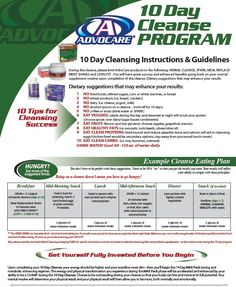 10 Cleanse Program Ask me about AdvoCare...glgrho@me.com Website: https://www.advocare.com/121114569/