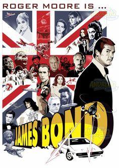 *m. Homenageando Roger Moore, o segundo ator a encarnar 007 ... #007 #rogermoore…