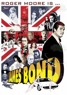 Homenageando Roger Moore, o segundo ator a encarnar 007 ... #007 #rogermoore #jamesbond #poster #vector #vetor #illustration #ilustração #design #movieposter #movies