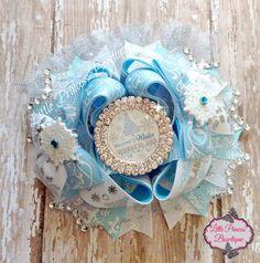 OTT Christmas Hair Bow Winter Wonderland by LilPrincessBowtique8