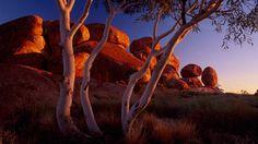 Sunset, Devils Marbles Conservation Reserve, Karlu Karlu, Tennant Creek and Barkly Region, Northern Territory, Australia