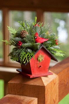 Christmas bells are ringing, and so is your décor – for some jolly decorations for the big day. Stuck for something for the mantelpiece? Try a reindeer, ange birdhouses ideas 51 Christmas Home Decor Items To Help You Get Ready For The Season Christmas Bird, Rustic Christmas, Christmas Projects, Christmas Home, Holiday Crafts, Christmas Holidays, Christmas Wreaths, Christmas Ornaments, Holiday Decor