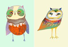 Ashley Percival. The UK based illustrator is offering his adorable owl prints