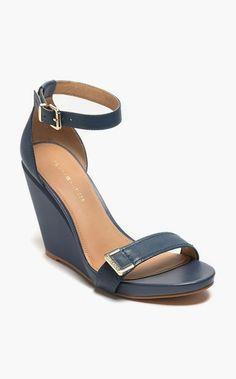 T-Strap Gold Heel Sandal