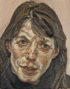 Lucian Freud – Head of a Woman, 1990-91, oil on canvas, 38 x 30.5cm