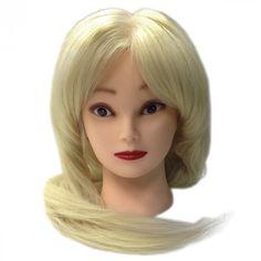 Голова учебная натуральная 90%, блонд Fantom 65 см - цена, отзывы, фото. Купить в магазине Pronogti.ru