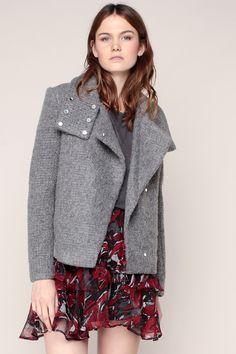 Veste courte texturée grise Sonay - Iro