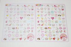 Mini Sticker Set  Love für Terminplaner von Perlenblitz auf DaWanda.com