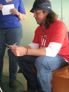 93.7 The Bull interview pictures of Christian Kane..  St Louis Radio Promotions back in 2010 melissa cook