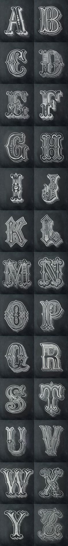 Chalk Alphabet / by Antonio Rodrigues Jr