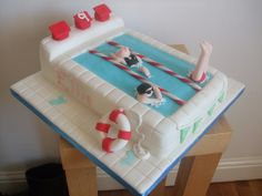 Swimming cake by trulycrumbtious, via Flickr