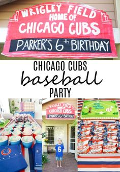 Cubs Birthday Party – Made with HAPPY Cubs Baseball Party. Looking for some fun cubs birthday party decorations, then look no further! Baseball birthday party decorations plus some fun baseball themed party games. Birthday Party Games For Kids, Puppy Birthday Parties, Birthday Party Decorations, Birthday Ideas, Baseball Party Decorations, Theme Parties, 10th Birthday, Birthday Wishes, Happy Birthday
