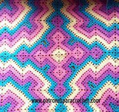 best 25 mantas tejidas ideas on mantas Crochet Squares, Zig Zag Crochet, Crochet Quilt, Crochet Blocks, Crochet Mandala, Crochet Home, Crochet Granny, Crochet Motif, Crochet Baby