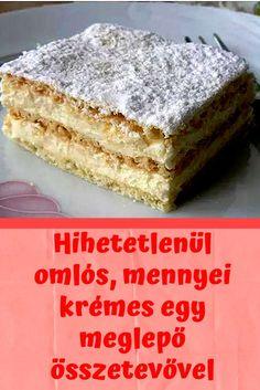 Sweet Desserts, Dessert Recipes, Hungarian Recipes, Cake Cookies, Vanilla Cake, Oreo, Food To Make, Easy Meals, Good Food