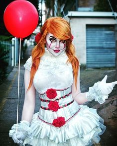 Do you want a balloon?  Pennywise By @jinxkittiecosplay #Pennywise #itmovie2017 #itmovie #pennywisemakeup #pennywisecosplay #stephenking #clowns
