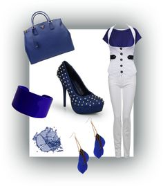 """""""Pop In Blues"""" by laydeelove on Polyvore"""