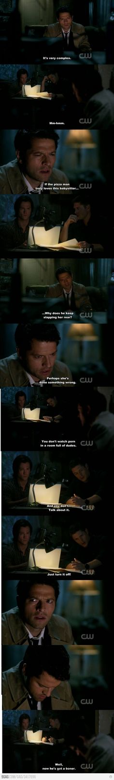Cas doesn't understand pron either