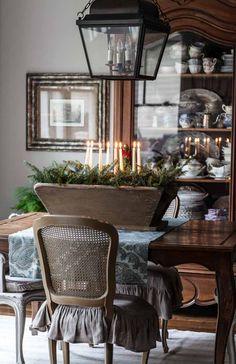 Christmas Décor with Candles and Greenery - Cedar Hill Farmhouse