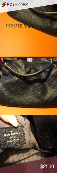 Black luxury Louis Vuitton Tote Beautiful and gently worn Authentic Louis Vitton Tote. Great for travel and business affairs. 🖤 Purchase today, will sale fast. Louis Vuitton Bags Totes