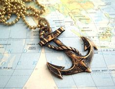 anchor necklace.. I'd like it a lot better if it had a different chain but you could probably change that out pretty easily