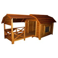 Handsomely crafted from cedar wood, this versatile dog house showcases a classic enclosure and a cozy porch—perfect for enjoying the outdoors with your fou...