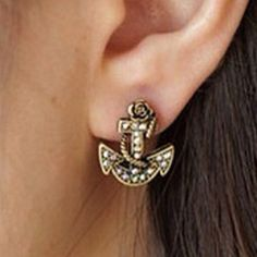Anchor Earrings✨FINAL PRICE✨ Cute sparkly anchor earrings. New in package. Jewelry Earrings