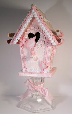 Altered Pink Bird House