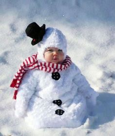 A round-up of the  Cutest Babies in the Snow