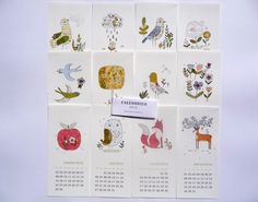 "2014 Calendar - wall calendar  10x21cm - 4 x 8,27"" FRENCH VERSION"