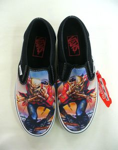 """Iron Maiden """"The Trooper"""" Vans.  Me and my hubby would fight over these shoes - lol"""