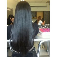 Silky Black Hair ❤ liked on Polyvore featuring beauty products, haircare, hair styling tools and hair
