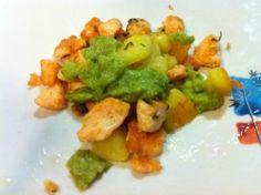 Bocconcini di Salmone con salsa di asparagi