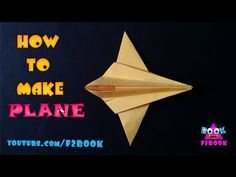 Airplane How To Make Paper Folding - Origami by F2BOOK - YouTube