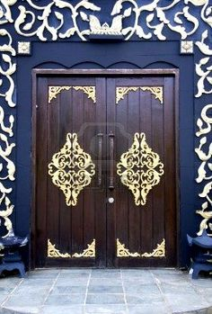 Truly beautiful. Traditional Malay House Doors
