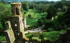 Blarney castle. Kiss it and become eloquent.