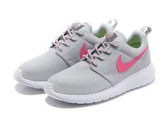 promo code e0057 2e0ca Nike Roshe Run Femme Chaussure gris rose prix spécial Cheap Nike Roshe, Nike  Roshe Run