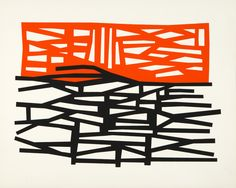 Harold Krisel, silkscreen, unknown title and size, circa Abstract Sculpture, Abstract Art, Everything Is Illuminated, Textiles Sketchbook, Arte Tribal, Paint Photography, Muse Art, Orange Art, Black White Art