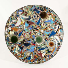 Lee Krasner - Mosaic Table (top view) | From a unique collection of sculptures at http://www.1stdibs.com/art/sculptures/