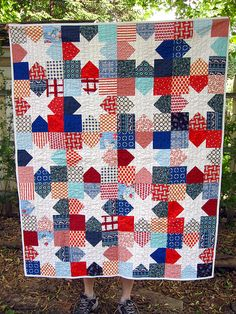Dad's quilt | 48x60 kona cotton solids connecting threads so… | Flickr