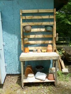 made of old pallets!